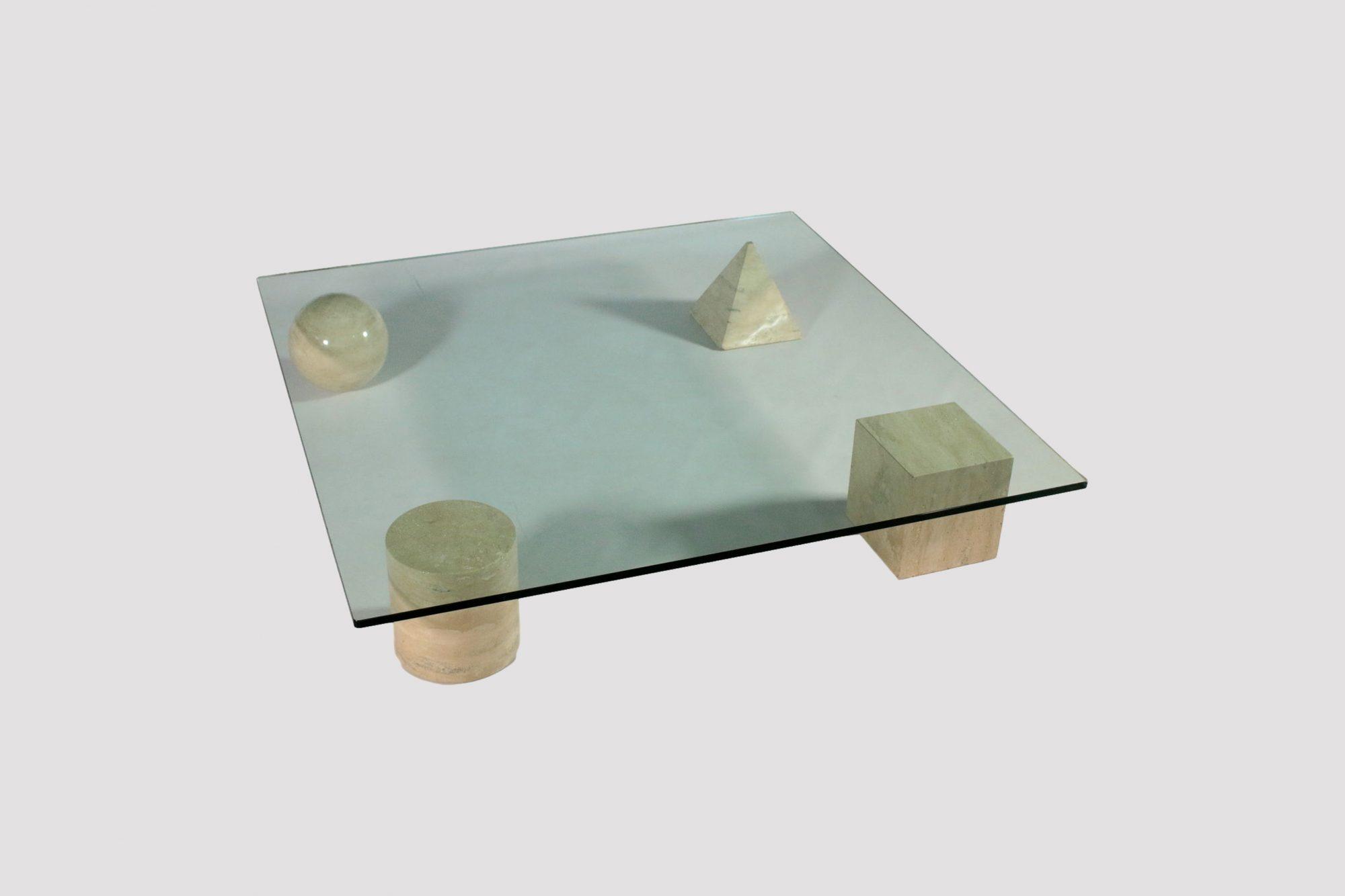 Tavolino Lella e Massimo Vignelli